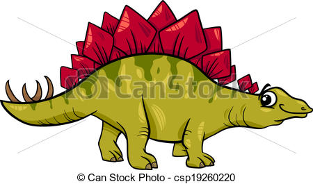... stegosaurus dinosaur cartoon illustration - Cartoon... ...