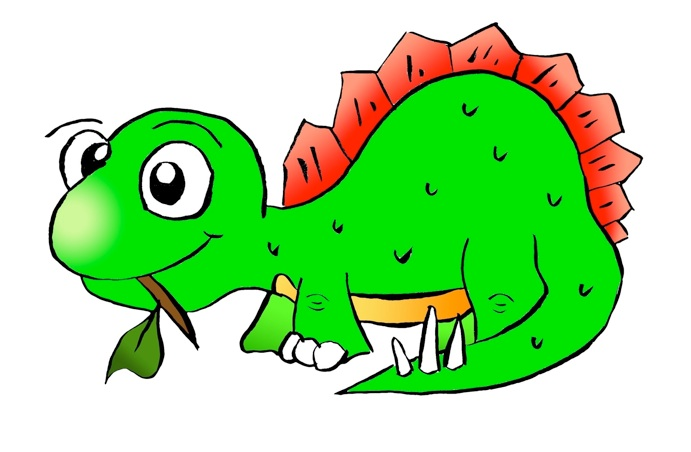 Stegosaurus Royalty Free Cute Dinosaur Clipart