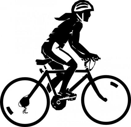 Steren Bike Rider clip art - Biking Clip Art