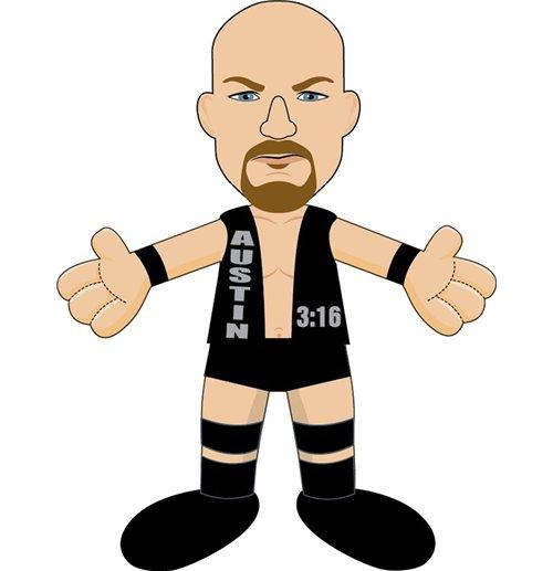 WWE Plush Figure Stone Cold Steve Austin 25 cm