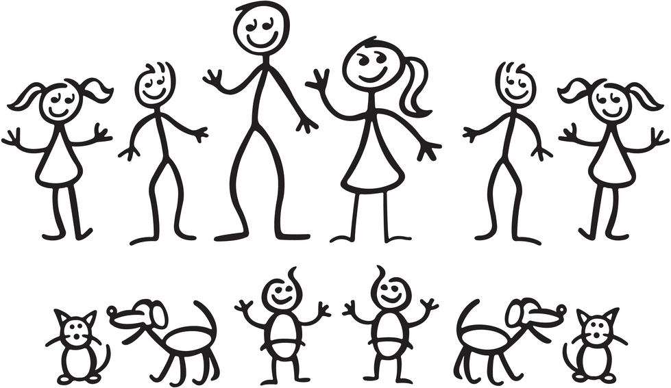 Stick family and Clip art .
