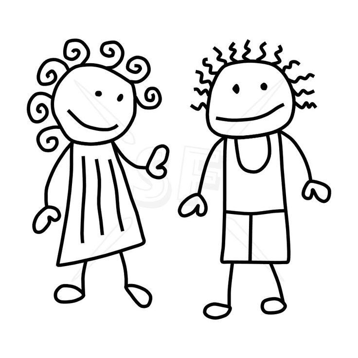 stick figure clip art | Variety of Stick People Clip Art | Stick