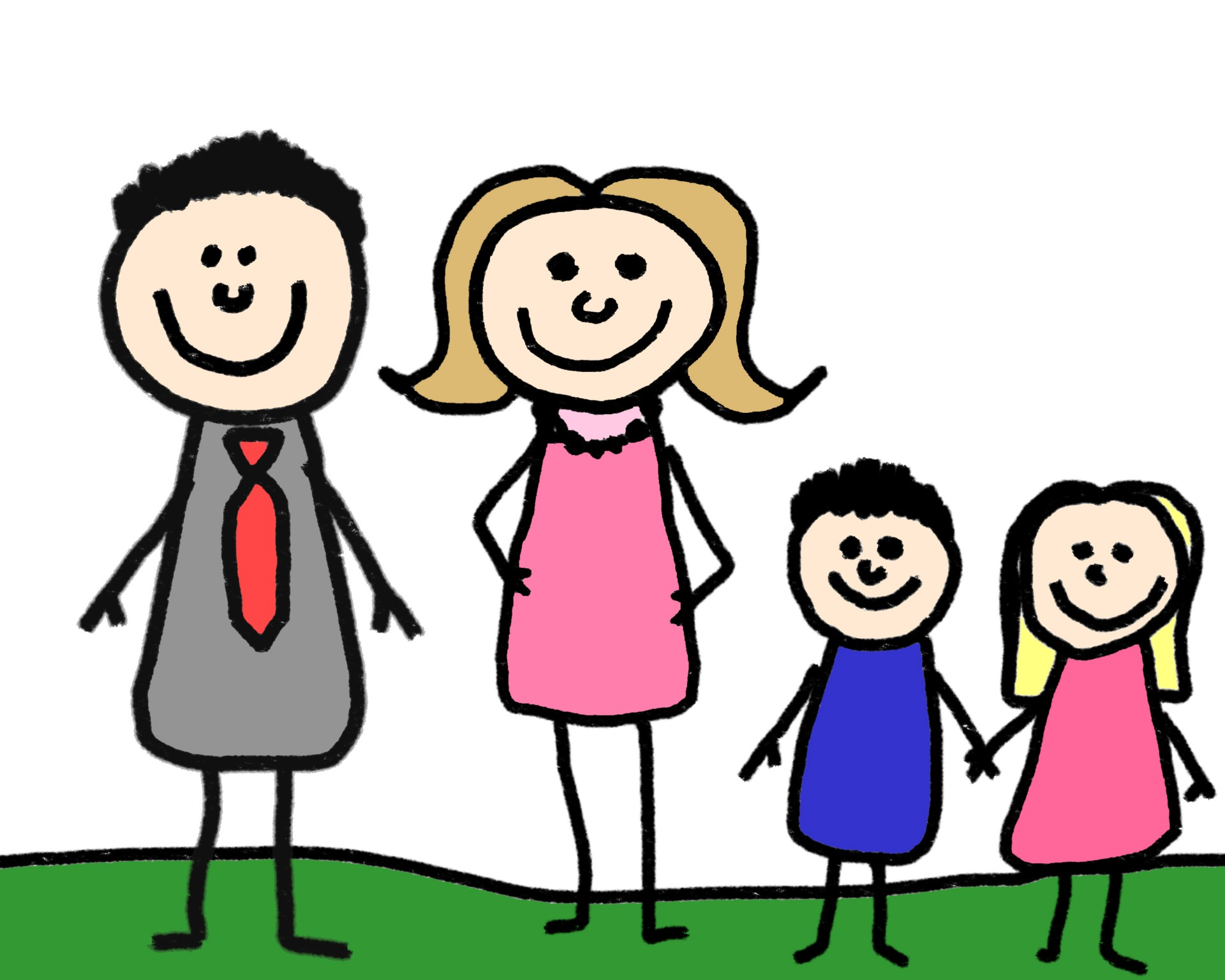 Stick Figure Family Clipart