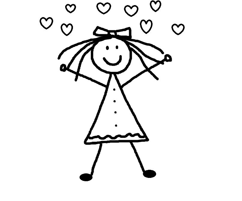 Stick Figure Girl Clip Art Cliparts Co