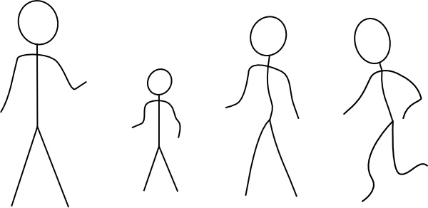 Stick Figures clip art