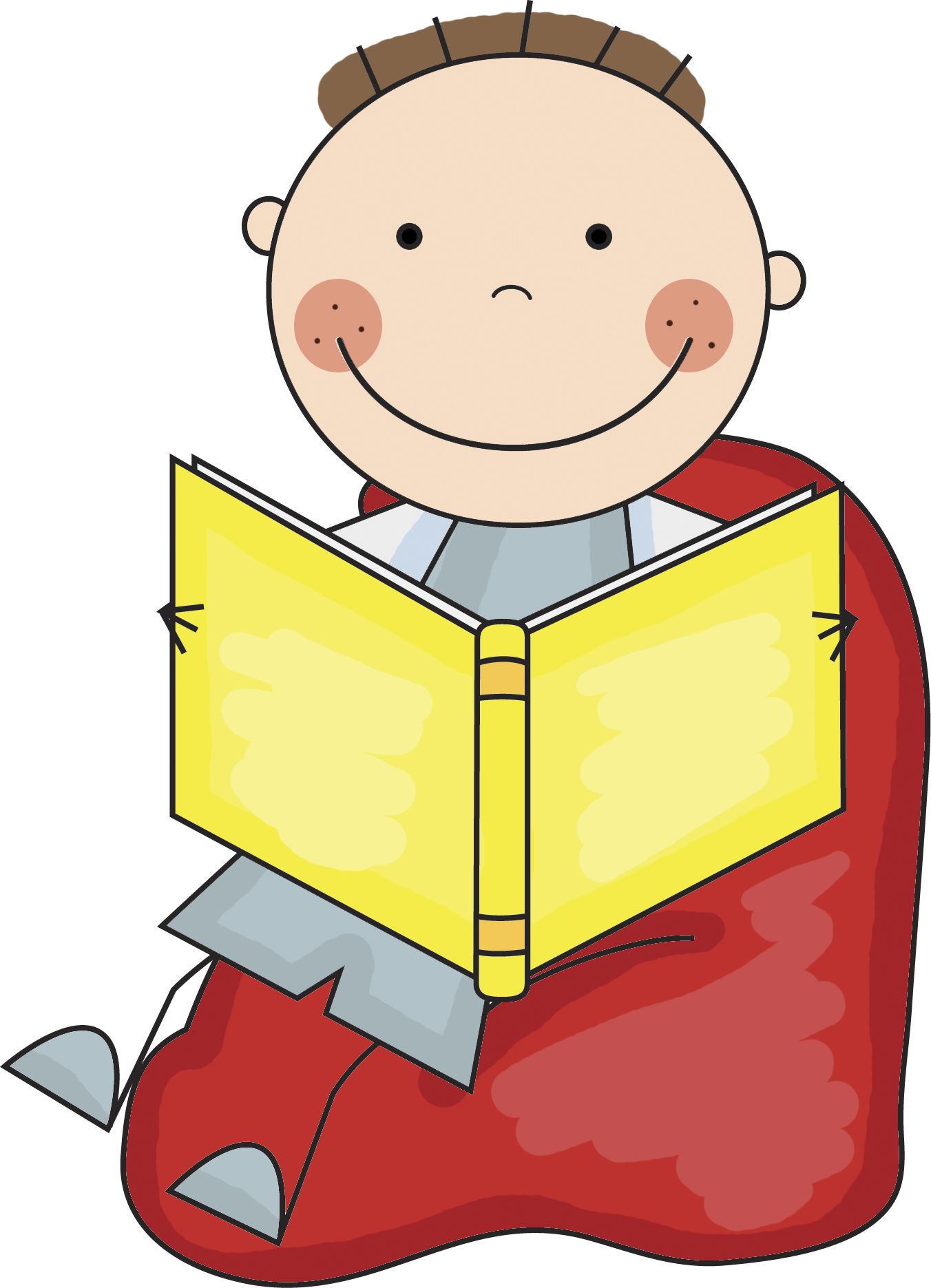 Stick Kids Reading Clipart | Clipart library - Free Clipart Images
