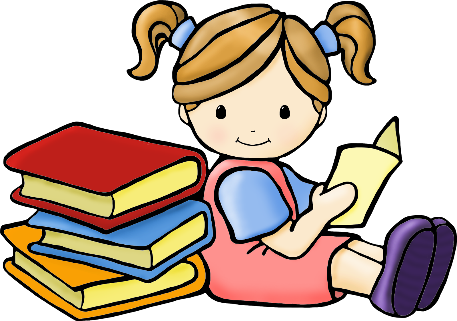 Stick Kids Reading Clipart. Follow us.