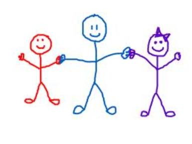 Stick People Clip Art Holding - Holding Hands Clip Art