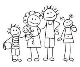 stick people family clip art. Advertising. Family Photo Day
