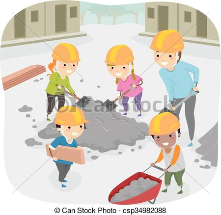 ... Stickman Kids Community Service Teac-... Stickman Kids Community Service Teacher Help - Stickman.-16