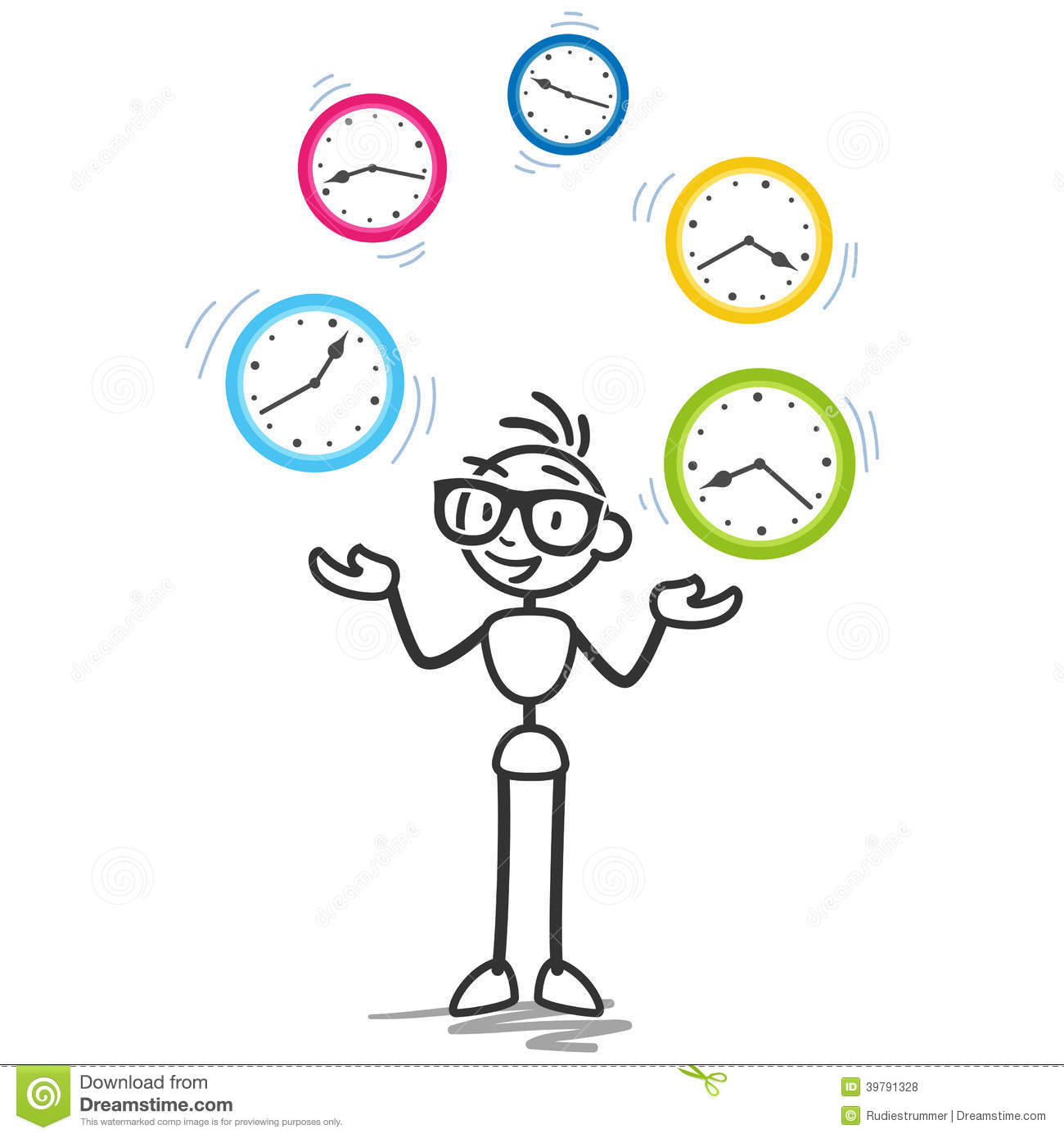 Stickman time management productivity schedule