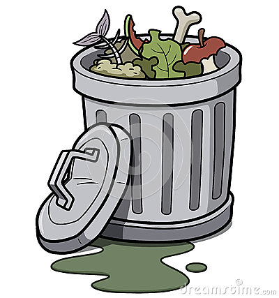 Stinky Garbage Clipart Trash Can Vector Illustration