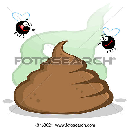 Stinky Pile Of Poop With Two Flies-Stinky Pile Of Poop With Two Flies-19