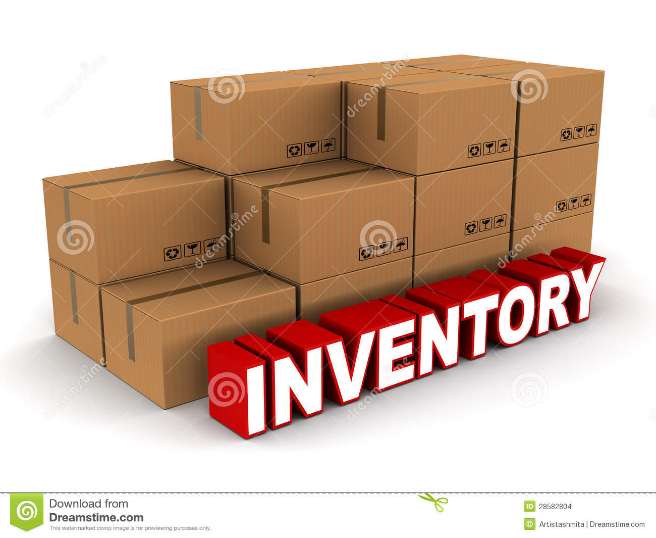 Stock And Inventory Concept Box Cartons Of Cardboard On White