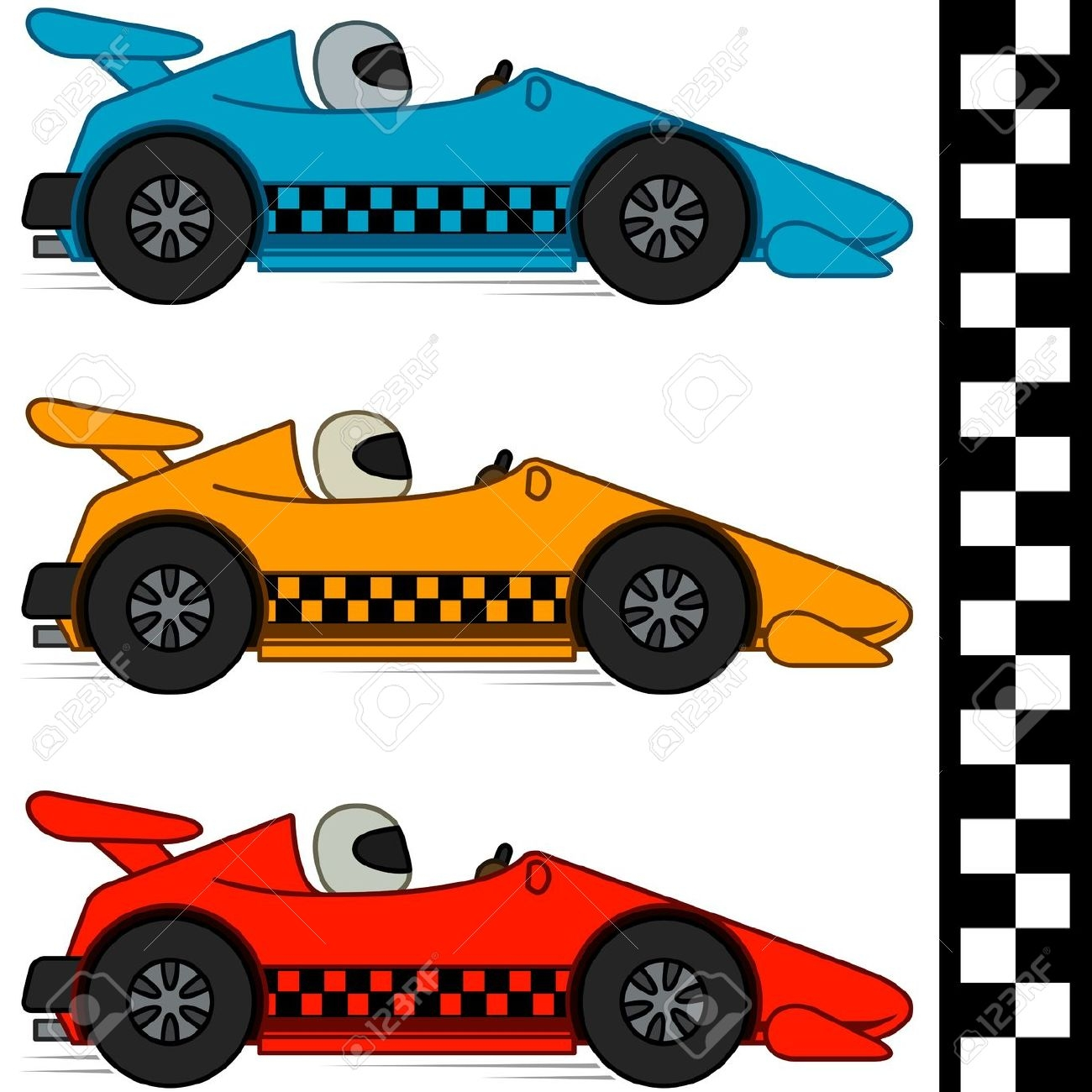 Stock Car Racing Clipart