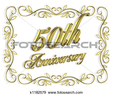 Stock Illustration - 50th Anniversary Go-Stock Illustration - 50th Anniversary Golden. Fotosearch - Search Vector Clipart, Drawings, Print-19
