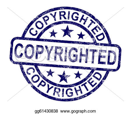 Stock Illustration - Copyrighted stamp showing patent or trademarks. Clipart gg61430838