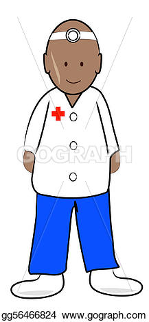 Stock Illustration - Doctor or male nurse practitioner . Clip Art gg56466824
