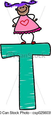 Stock Illustration - letter T - Letter T Clipart