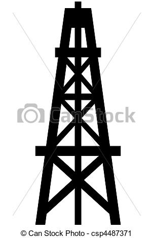 Stock Illustration Oil Derrick Stock Illustration Royalty Free