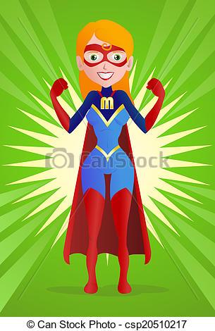 Stock Illustration - Super Mom-Stock Illustration - super mom-8