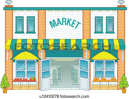 Stock Illustration The Market Fotosearch-Stock Illustration The Market Fotosearch Search Eps Clip Art-17