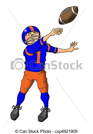 Stock Illustration - Throwing a Pass