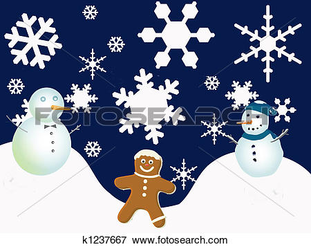 Stock Illustration - Winter Holiday Scen-Stock Illustration - Winter Holiday Scene. Fotosearch - Search EPS Clipart, Drawings, Decorative-10