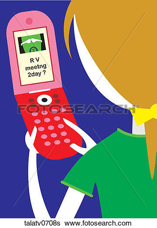 Stock Illustration - Woman Sending a Tex-Stock Illustration - Woman Sending a Text Message. Fotosearch - Search Clip  Art, Drawings-14