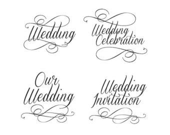 Stock Ilration Wedding Invitation Card Cute Design Blue Brown Bined Shapes Creative Art Artwork Digital Clipart