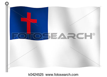 Stock Image - Christian Flag Waving. Fotosearch - Search Stock Photos,  Mural Pictures,