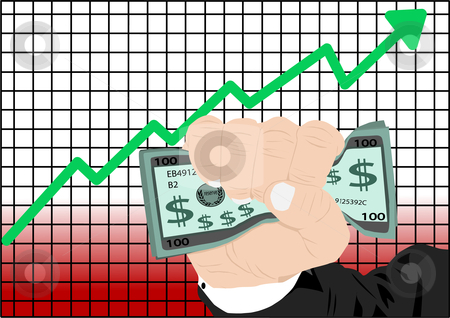 Stock Market Vector Stock Vector Clipart Stock Market Increase Vector