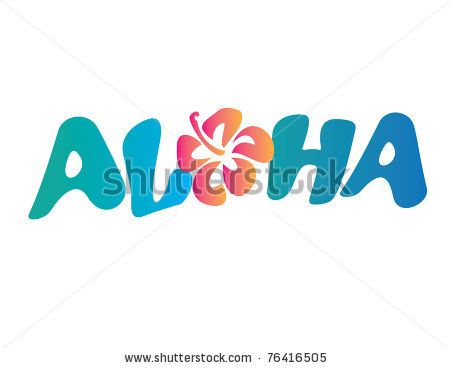 stock vector : Aloha Vector Lettering with Flower