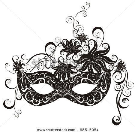 stock vector : Masks for a masquerade. Vector party mask.