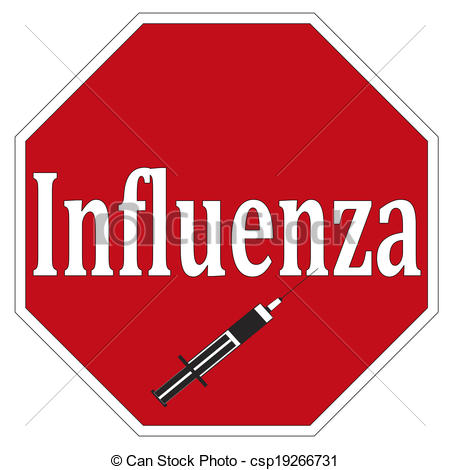 ... Stop Influenza - Concept sign for National Immunisation.