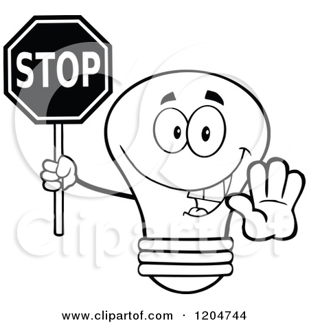 Stop Light Clip Art Black And ..