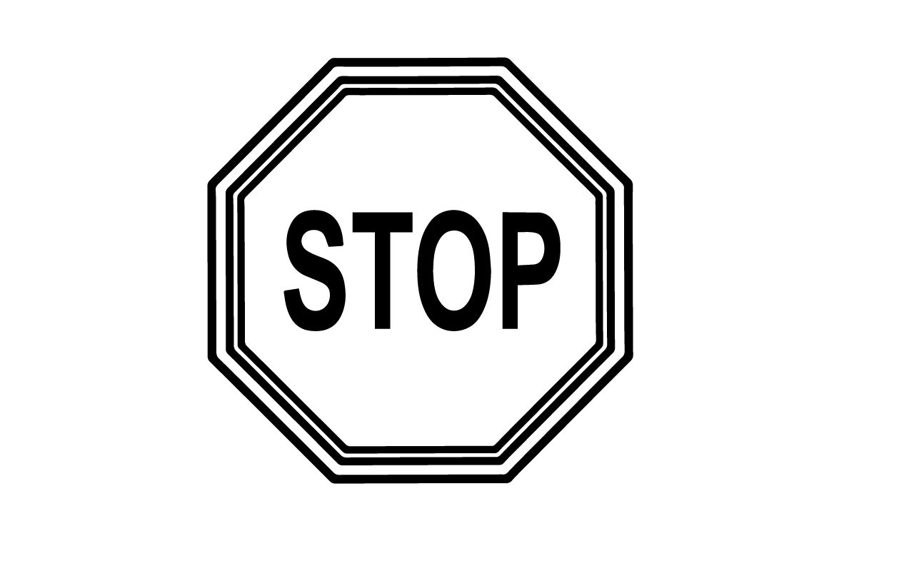 Stop Printable Clip Art Free u0026middot-Stop Printable Clip Art Free u0026middot; Stop Signs Pictures u0026middot; Black And White ...-5