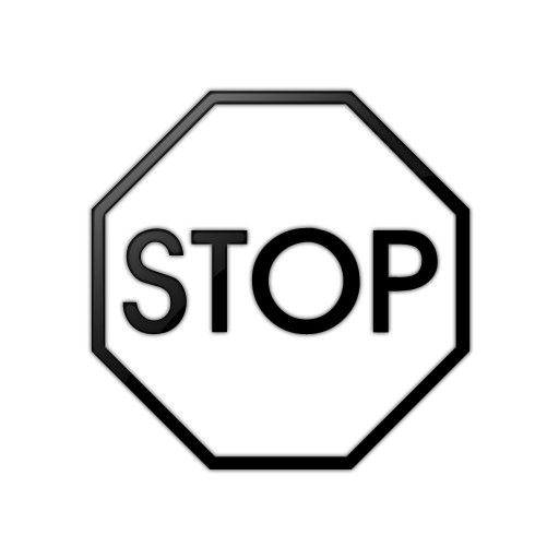 Stop Sign Clip Art Black And ..-Stop Sign Clip Art Black And ..-6
