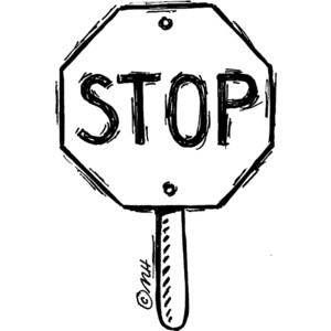 ... stop sign - Clip Art Gallery - Polyvore; Black And White Stop Sign ...