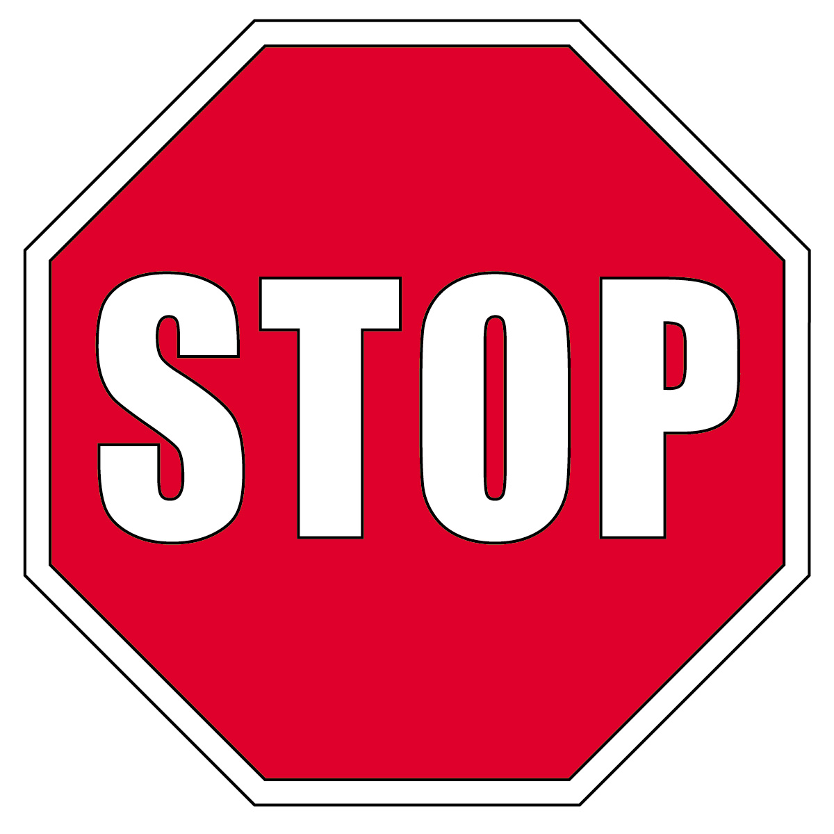 stop sign clipart-stop sign clipart-9