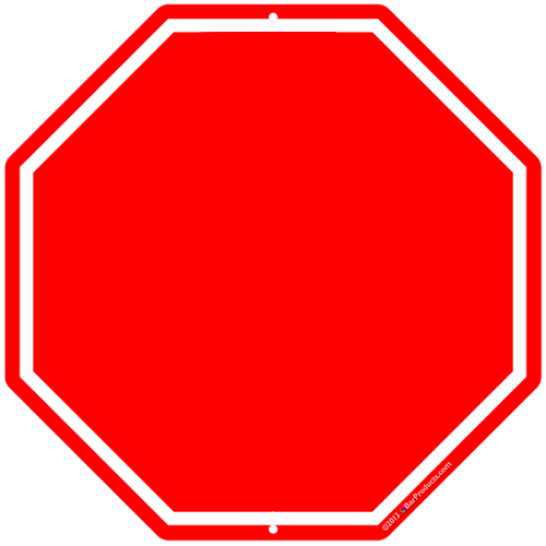 Stop Sign Template Printable  - Stop Sign Clip Art