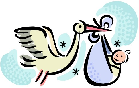 Stork With Baby Clipart .