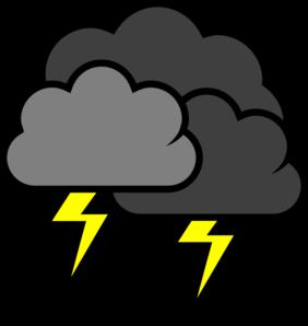 Storm Cloud Clipart #1