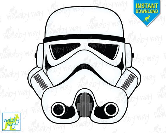 Stormtrooper Star Wars Printable Iron On-Stormtrooper Star Wars Printable Iron On Transfer Or Use As Clip Art-6