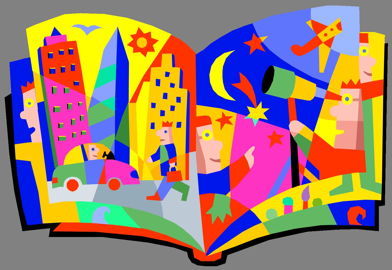 Story Clipart 5 Children Library Clip Art