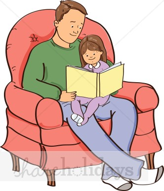 Storytime Dad Clipart