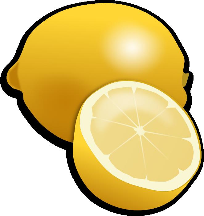 Strawberries lemons cliparts