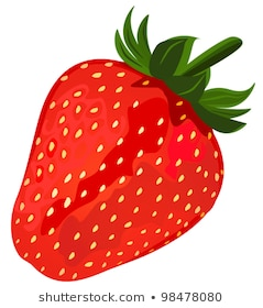 Ripe red strawberries, file EPS.8 illustration.