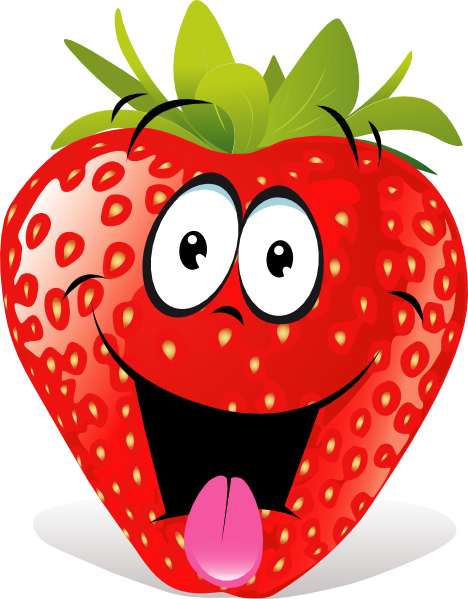 Strawberry Fruit Cartoon | Cartoon Strawberry clip art