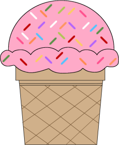 Strawberry Ice Cream Cone with Sprinkles-Strawberry Ice Cream Cone with Sprinkles-4